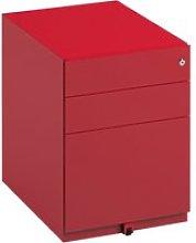 Bisley Wide Under Desk Pedestal, Red