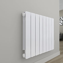 Bismo 577 x 699mm White Wall Mounted 1200W Oil