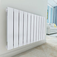 Bismo 577 x 937mm White Wall Mounted 1800W Oil