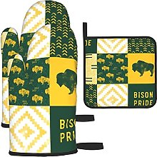 Bison Pride Patchwork Buffalo Oven Mitts and Pot