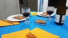 Bissu Laminated Paper Tablecloth, Turquoise, 1.2 m