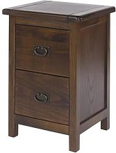Biston Bedside Cabinet In Dark Tinted Lacquer With