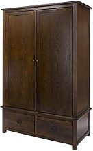Biston Two Doors Wardrobe In Dark Tinted Lacquer