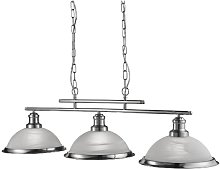 Bistro 3 Light Ceiling Bar In Satin Silver