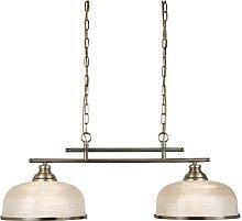 Bistro II 2 Light Ceiling Bar In Antique Brass