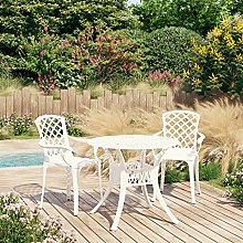 Bistro Set Cast Aluminium, Outdoor Chairs and