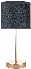 Bistro Touch Table Lamp Polished Copper Navy Blue