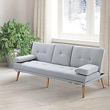 BiYeer Grey Sofa 2/3 Seater Sofa Bed Style