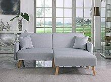 BiYeer Grey Sofa 2 Seater Fabric Sofa Bed In