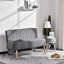 BiYeer Grey Sofa 2 Seater Sofa, Linen-Grey