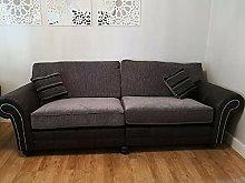 BiYeer Grey Sofa 4 Seater Sofa