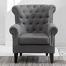 BiYeer Grey Sofa Armchair Sofa 1 Seater Settee