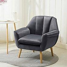 BiYeer Grey Sofa Back Velvet Cushioned Seats Tub