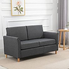 BiYeer Grey Sofa Double Seat Sofa Compact Loveseat