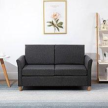 BiYeer Grey Sofa Double Seat Sofa Loveseat Couch