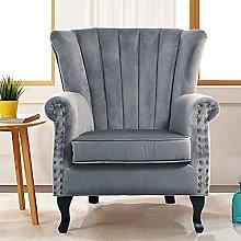 BiYeer Grey Sofa European Retro Fabric Armchair