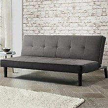 BiYeer Grey Sofa Grey Fabric Sofa Bed Adjustable
