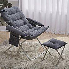 BiYeer Grey Sofa Grey Folding Recliner Moon Chair
