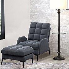 BiYeer Grey Sofa Grey Matte Velvet Fireside