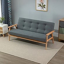 BiYeer Grey Sofa Grey Sofa 3 Seater Mid Century