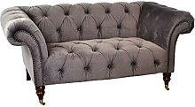 BiYeer Grey Sofa Grey Velvet Small Sofa