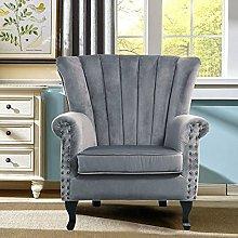 BiYeer Grey Sofa Grey Velvet Wing Back Occasional