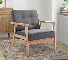 BiYeer Grey Sofa Grey Vintage Sofa Chair Button