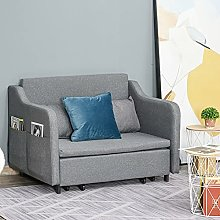 BiYeer Grey Sofa Loveseat Futon Couch Upholstery