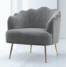 BiYeer Grey Sofa Matte Velvet Armchair Single Sofa