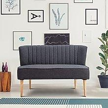 BiYeer Grey Sofa Modern Double Seat Sofa Loveseat