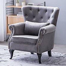 BiYeer Grey Sofa Occasional Tufted Wing Back Chair