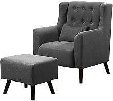 BiYeer Grey Sofa Occasional Winged Armchair