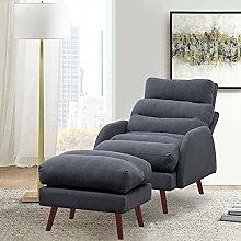 BiYeer Grey Sofa Orthopeadic Armchair Grey Velvet