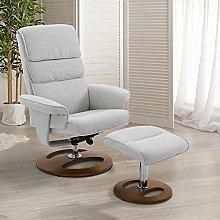 BiYeer Grey Sofa Recliner Chair Set 360° Swivel