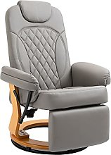 BiYeer Grey Sofa Recliner Lounge Chair With