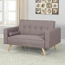 BiYeer Grey Sofa Sofa Bed Grey Fabric Adjustable