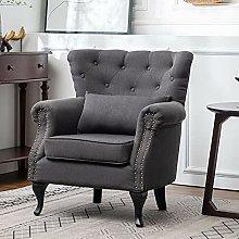 BiYeer Grey Sofa Upholstered Armchair Lounge Sofa