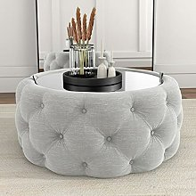 BiYeer Lift Top Coffee Table With Storage Round