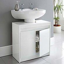 Biznest High Gloss Under Sink Cabinet Perfect For