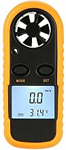 BJLWTQ Digital Anemometer, Thermometer with LCD