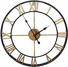 BJYX Wall Clock 60CM Large Metal Clock Big