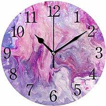 BKEOY Vintage Painting Surface Wall Clocks