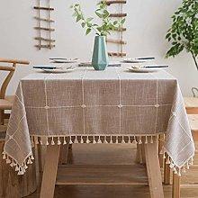 BKPH Washable Cotton Linen Stitching Tassel Design
