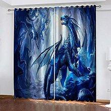 BKTTDS Blackout Curtains For Living Room Eyelet 3D