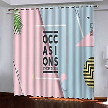 BKTTDS Boys Bedroom Curtains Blackout 300X270cm