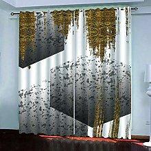 BKTTDS Eyelet Curtains For Living Room, 3D Prined