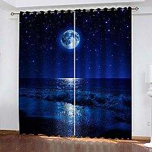 BKTTDS Kids Blackout Curtains Eyelet 280X260cm 2