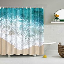 BKYHF Shower curtainShower curtain with blue sky