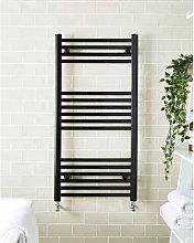 Black 1000mm x 500mm Straight 22mm Towel Rail -