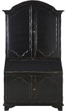 Black 4-Door Wardrobe with Writing Bureau